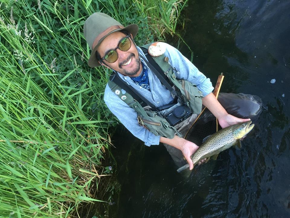 釣りの方も20インチを超えるのブラウンを数匹キャッチ。 trout764の良いテストになりました。