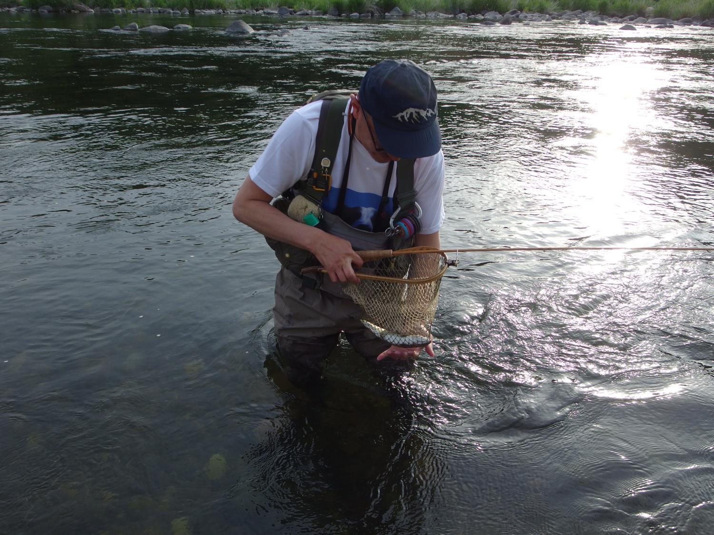 本当に釣りが好きな人。杉戸さん。