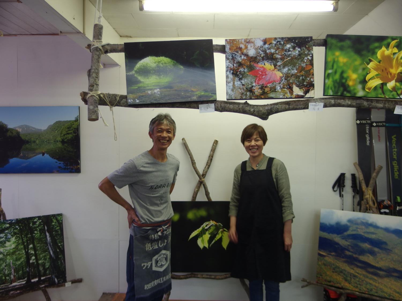 八甲田の森が大好きな外崎さんと奥様。 夏は箒場茶屋という食堂を営んでいます。