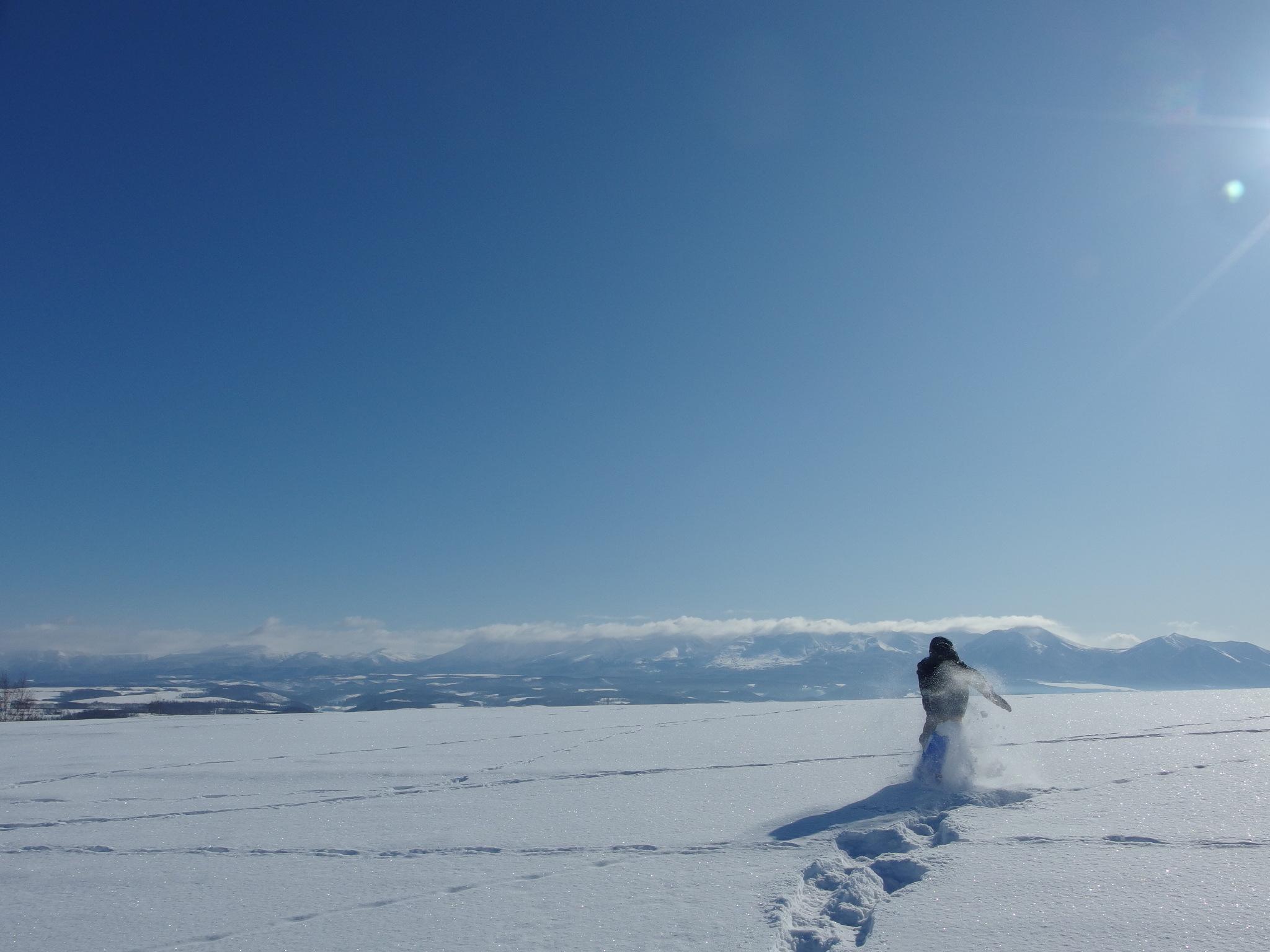 雪原の一番高い場所に着きました。