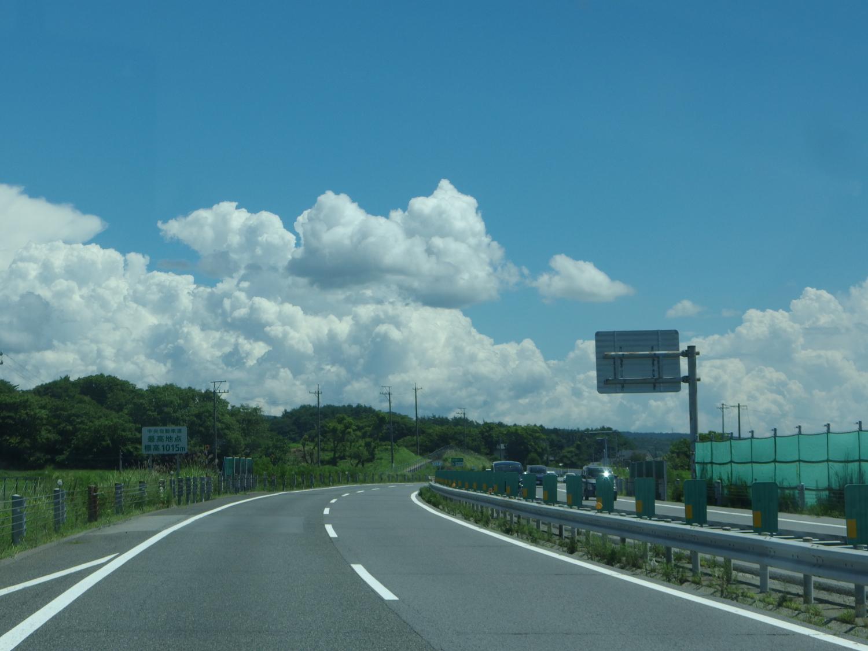 久しぶりの中央道。 東京へ移動。